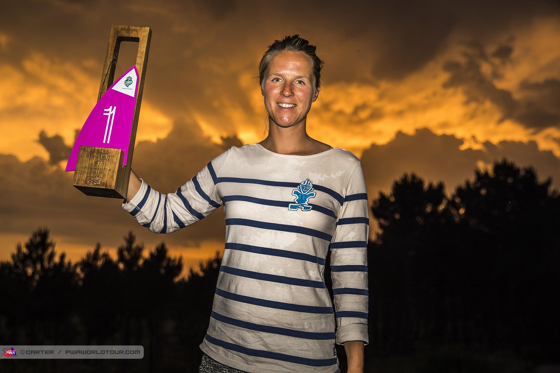 Delphine Cousin-Questel est championne du monde de windsurf