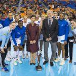L'équipe de france féminine de handball remportent la Coupe du Président en lot de consolation du Mondial 2019