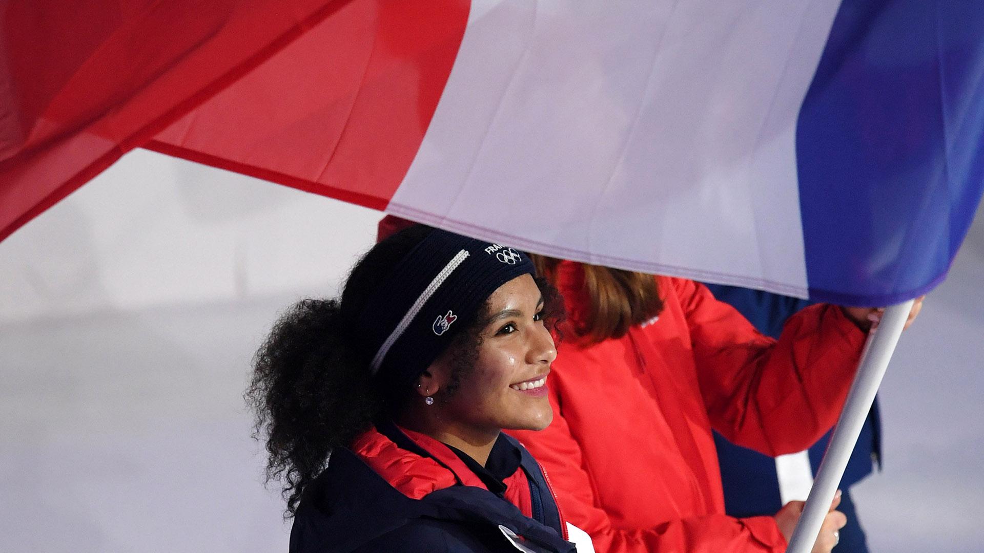 Camila Copain, porte-drapeau et sportive sur tous les fronts
