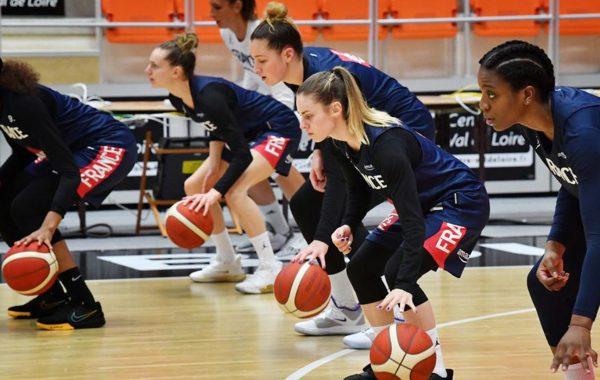 Equipe france féminine de basket au TQO à Bourges