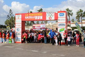 Photo de la ligne de départ La Tunisienne Gazelle Run 2020