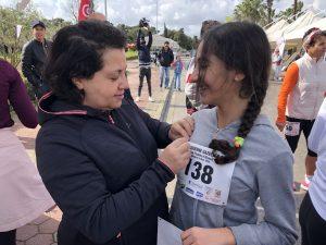 Emna Braham et sa maman lors de la Tunisienne Gazelle Run 2020