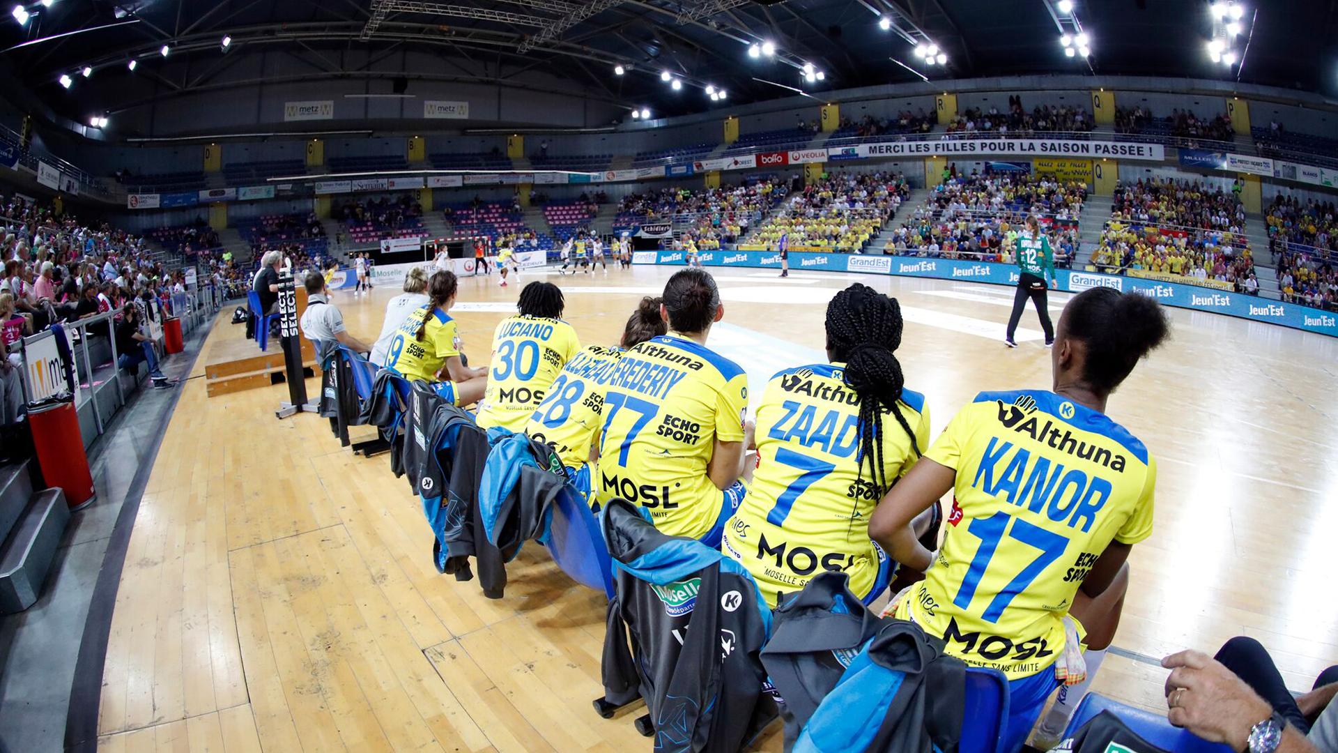 Banc messin Metz Handball Copyright : FFHandball S.Pillaud