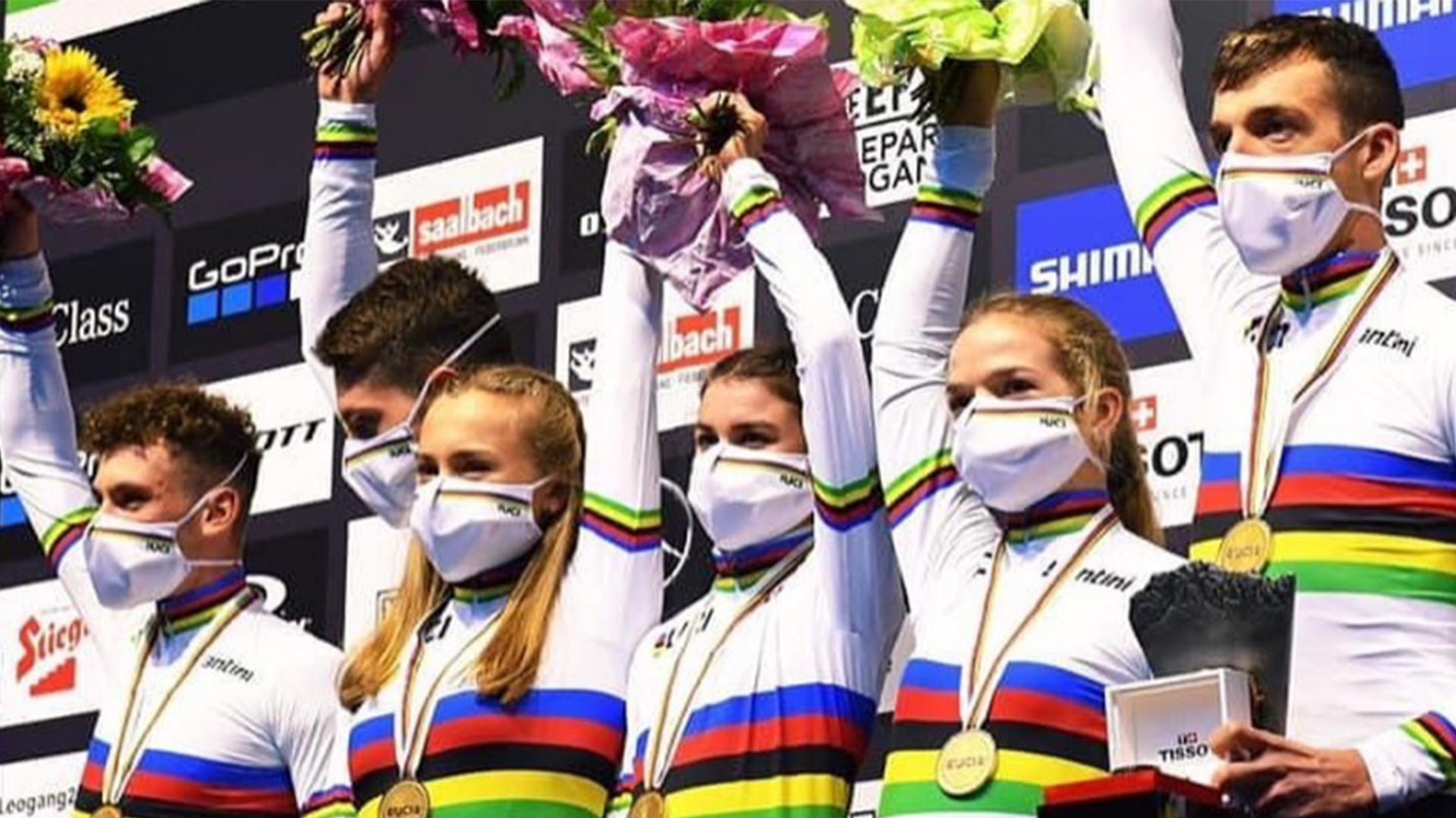 L'équipe de France sacrée championne du monde sur le relais VTT Mountain Bike
