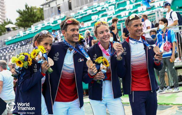 Le triathlon français en bronze aux JO