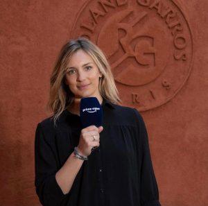 Clémentine Sarlat présentait Roland Garros pour Amazon Prime