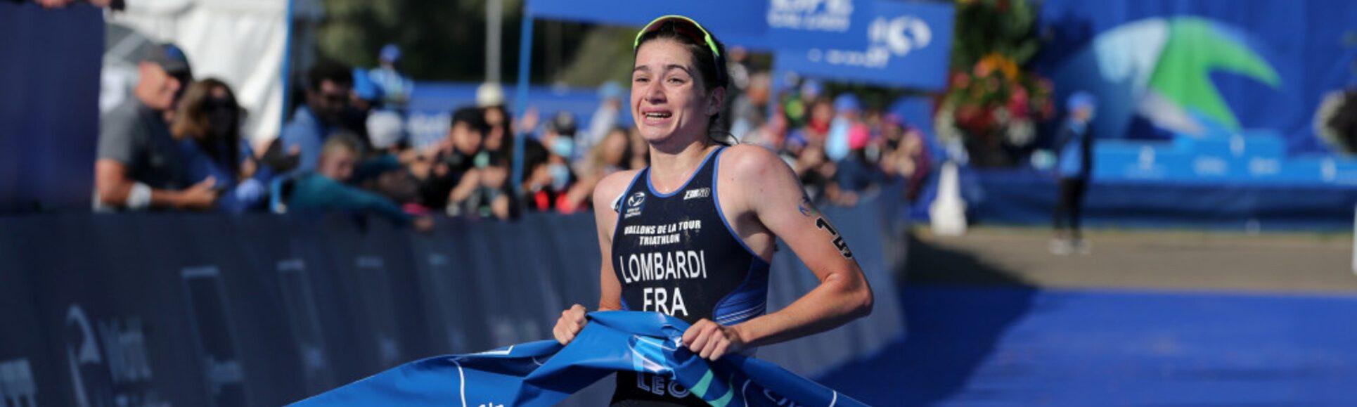 Emma Lombardi est championne du monde U23 en triathlon.
