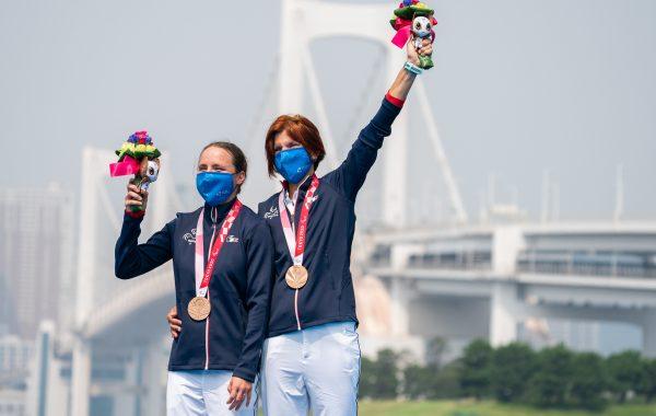 Anouck a remporté la médaille de bronze en triathlon lors des Jeux paralympiques de Tokyo