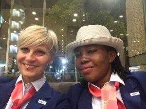 Marie-Pierre Barthe Sadran et Adeoti Mosunmola Yinka sont devenues les premières femmes cut techniciennes