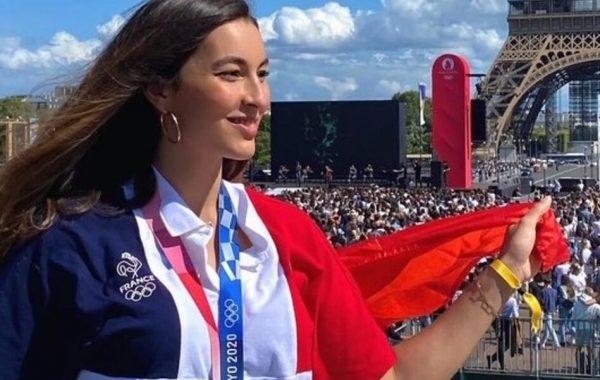 Sara Balzer, médaillée d'argent à Tokyo.