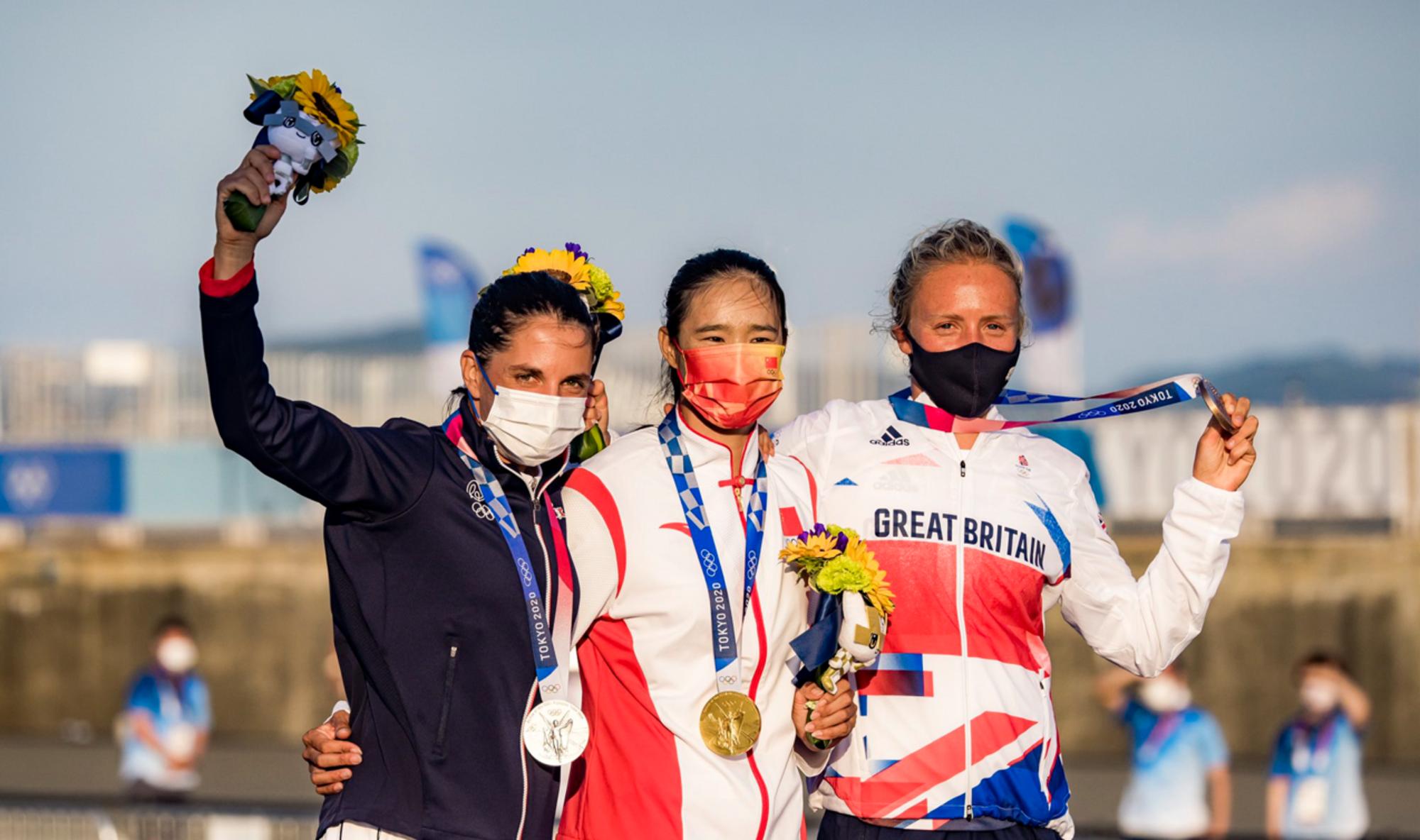 Charline Picon a pris la médaille d'argent des Jeux Olympiques de Tokyo.