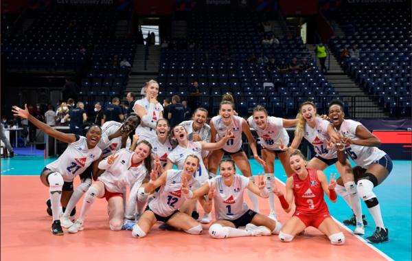 L'équipe de France de volley est qualifiée pour la première fois en huitièmes de finales de l'EuroVolley