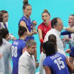 l'équipe de France s'est inclinée en quart de finale de l'eurovolley