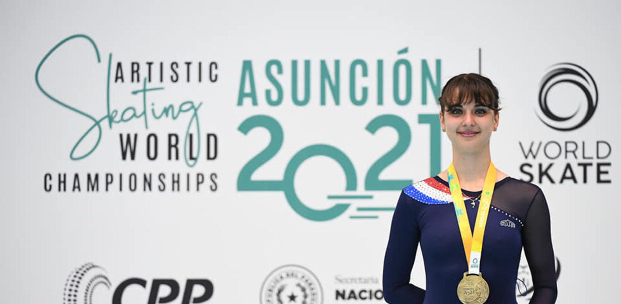 Séréna Giraud est championne du monde 2021 en roller inline